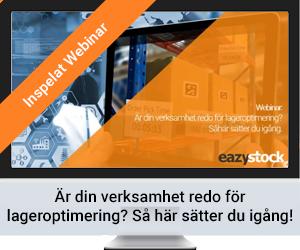 Inspelat Webinar - Är din verksamhet redo för lageroptimering? Så här sätter du igång!